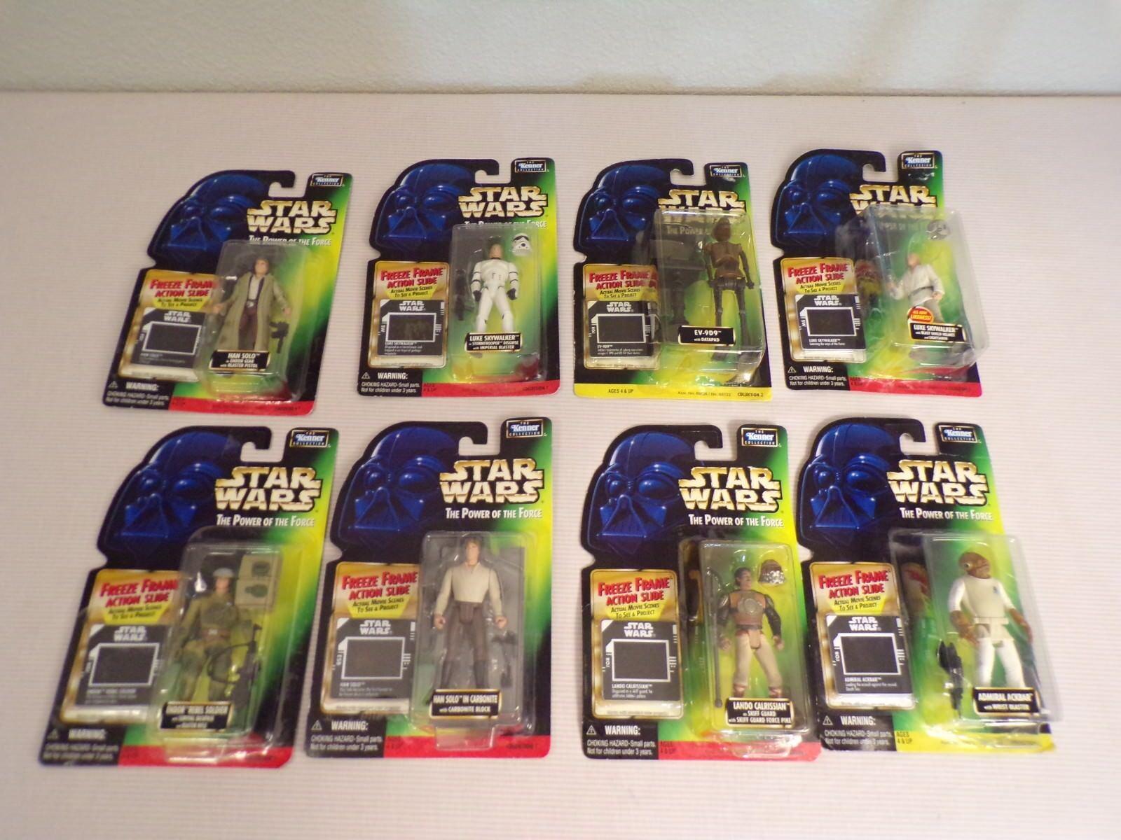 Star Wars Power Force Freeze Frame Collection Han Leia Luke Lando Hoth 22 figure