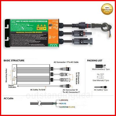 Solar Micro Inverter MPPT Grid Tie Inverter Pure Sine Wave Inverter DC 18V-50V