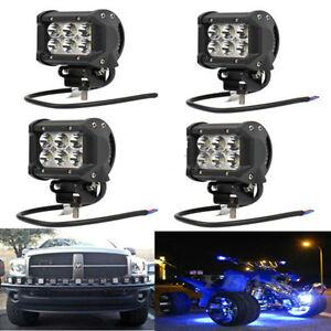 4x-18W-LED-Offroad-Arbeitsscheinwerfer-Scheinwerfer-Zusatzscheinwerfer-ZI-08