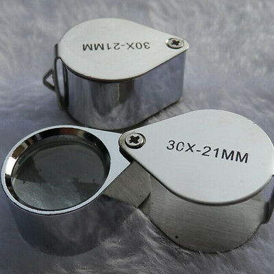 YXGS Pocket Jewellers Eye Loupe Magnifier Jewelry Magnifying Glass Jewelers 30 x 21mm