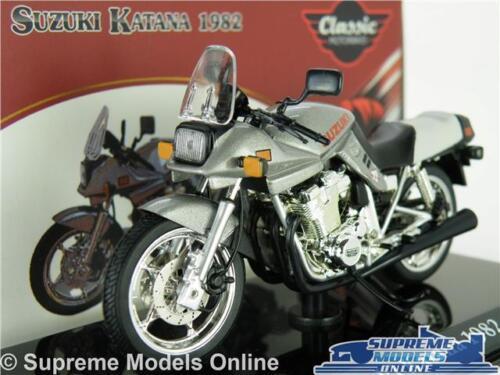 SUZUKI KATANA moto modello 1:24 SCALA ARGENTO IXO 1982 Classic ATLAS BIKE K8