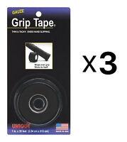 Unique Tennis Racquet Over Grip Gauze Tape-black-1 By 30 Ft-badminton (3-pack) on sale