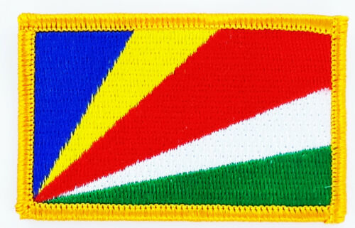 PATCH ECUSSON BRODE DRAPEAU SEYCHELLES INSIGNE THERMOCOLLANT NEUF FLAG PATCHE