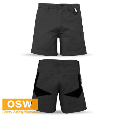 MENS TRADIES SQUARE WEAVE COTTON RIPSTOP MECHANICAL STRETCH BREATHE CARGO PANTS