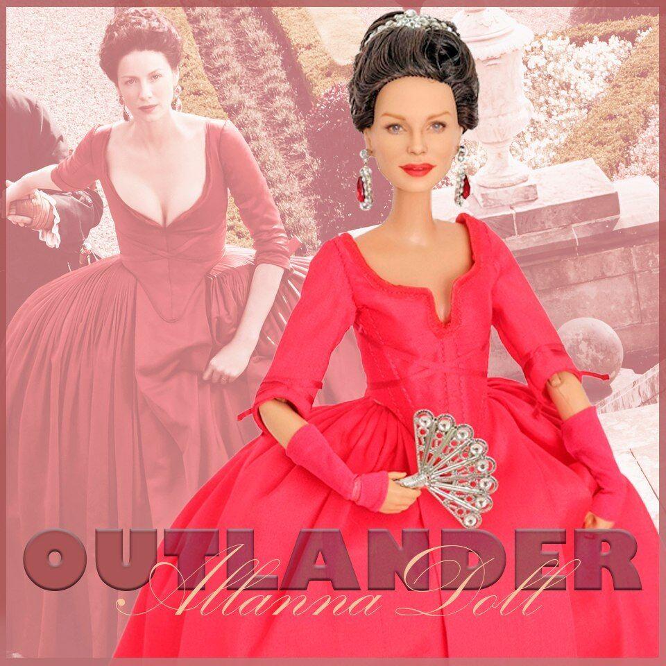 Muñeca Barbie única en su clase Claire Beauchamp Fraser Outlander Muñeca Repintado