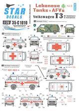Star Decals 1/35 LEBANESE TANKS & AFVs Part 3 Volkswagen T3 Ambulance Transport