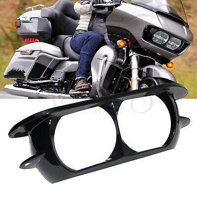 Black Headlight Bezel Trim Fairing Cover For Harley for Road Glide 2015-2019 CT