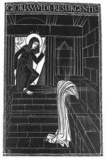 ERIC GILL FRAMED ORIGINAL RARE LTD EDN WOOD ENGRAVING RESURRECTION 1929