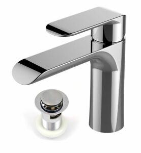 Modern-Basin-Sink-Tap-Round-Mixer-Chrome-Mono-Bloc-Cloakroom-Bathroom-Taps-Waste