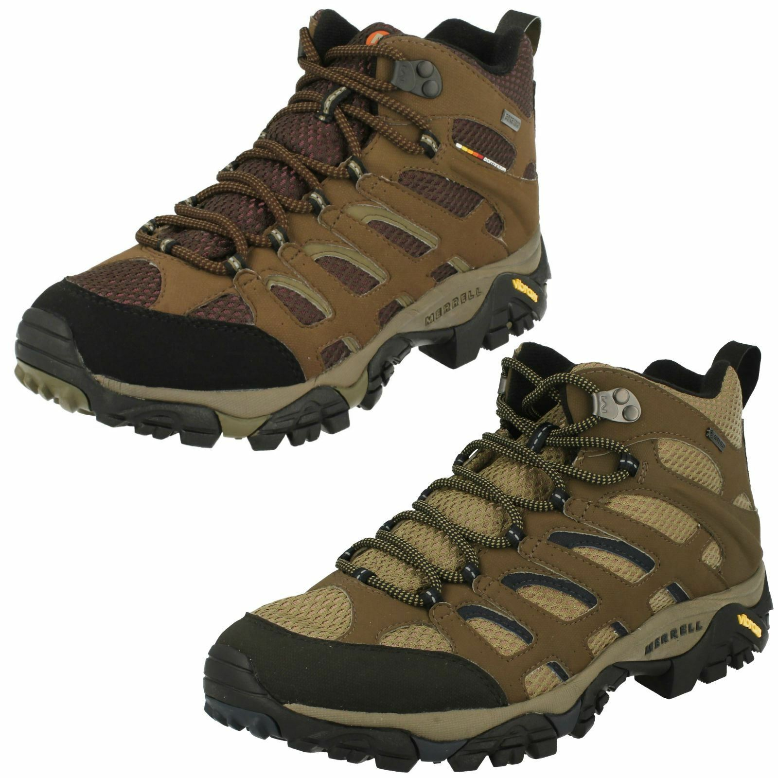 Mens Merrell Gore-Tex Lace Up Walking Boots Moab Mid
