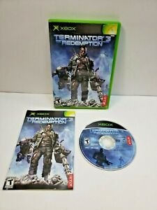 Terminator 3: The Redemption (Microsoft Xbox, 2004) With Manual TESTED