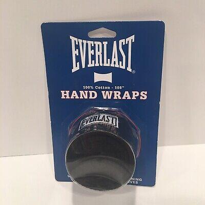 "Everlast Black Boxing 108/"" Hand Wraps"