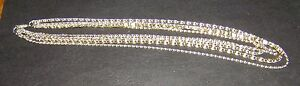Retro-1970-s-Multiple-Chain-Necklace-Gold-Tone-Long-Scroll-Chain-Easy-Elegance