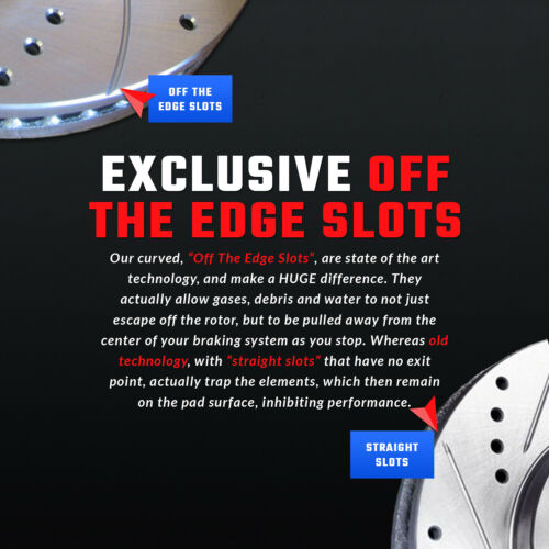 Front Set Double Drill//Slotted Zinc Coated Premium Performance Rotors  ATL018334