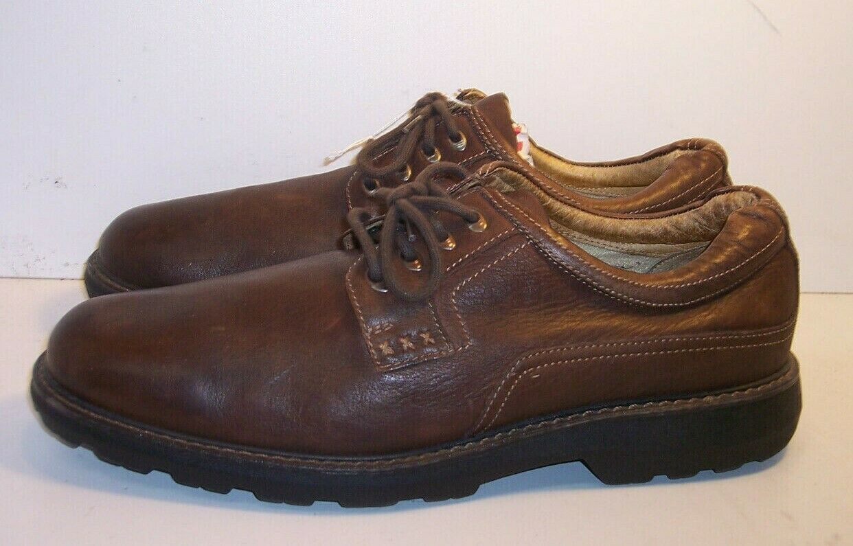 CHAPS Brown Leather Dress or Casual Oxford shoes Men's Size 12 M