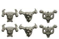SPELLCROW - 6x Sacs à Dos Antique de Chevaliers de la Peste *Warhammer 40k Bitz*