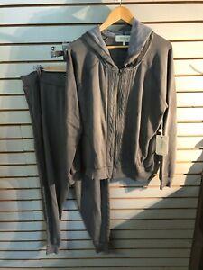 Women's Pj Salvage Grey Cotton/polyester Sweatshirt & Pants Set Size: Xl-nwt Be Shrewd In Money Matters