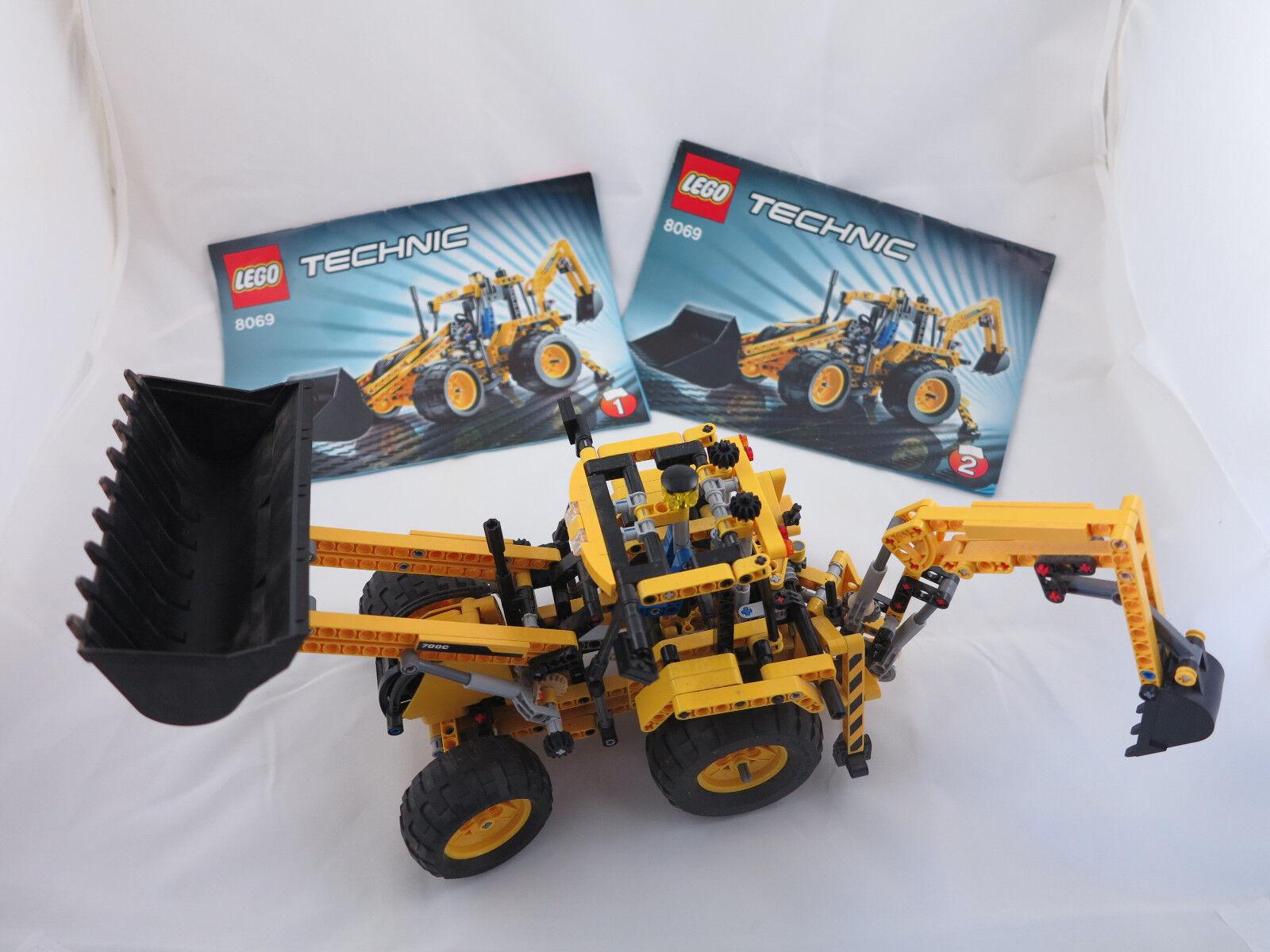 LEGO 8069 tecnica  escavatori  terne Escavatore  + ORIGINALE recipe   campo ( 77)  contatore genuino