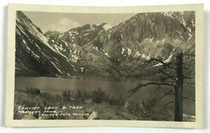 RPPC-Convict-Lake-amp-Tree-Raymer-039-s-Camp-Pomona-California-CA-Real-Photo-Postcard