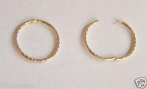 Diamond Cut 9ct Gold Hoops Sleeper Earrings 10mm ttmrcwub