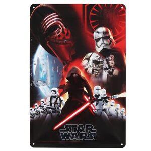 Star-Wars-7-Vintage-Blechschild-RARITAT-Sammler-Kylo-Ren-Hauptfiguren