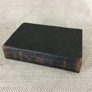 Antico-Bibbia-pelle-Coperto-Vecchio-Nuovo-Testament-Vittoriano-19th-Century