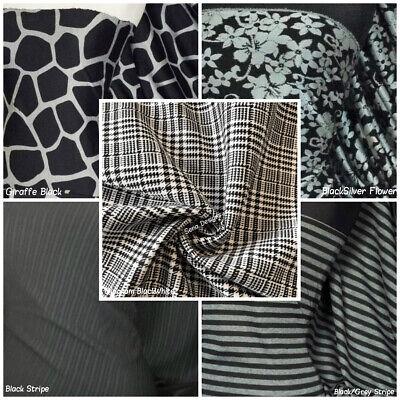 Ponte Roma Double Knit Jersey Fabric Ponteroma Stretchy Spandex Material Dress