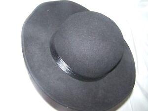 Vintage Wide Brim Black Michael Howard Wool Hat Jacqueline Ferrar ... 7b9ebac5448