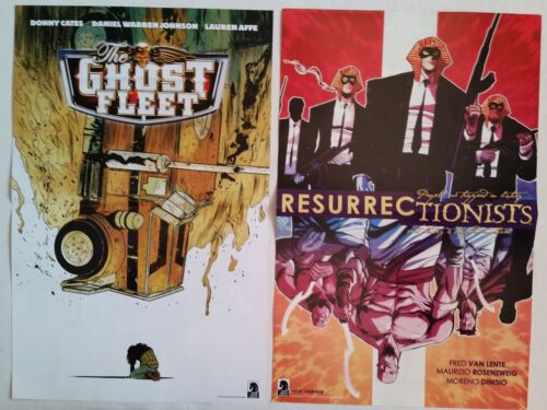 THE GHOST FLEET dual sided poster SDCC Comic Con 2016 Handout RESURRECTIONISTS