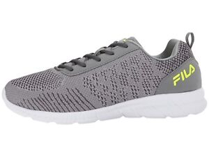 12c50e0ea782c Fila Memory V Knit Monument/Dark Shadow/Safety Yellow Men Running ...