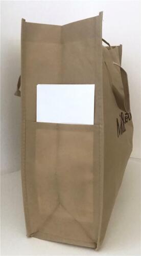 Matilda Jane Shopping Tote Bag Large Brown Logo Open Foldable Lightweight NEW
