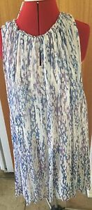 Witchery-Fresh-Blue-Gathered-Neck-Hi-Lo-Dress-Size-10-Rrp-170-Reduced