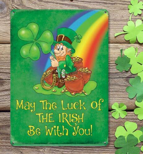 Peut The Luck of the Irish être Avec Vous l/'Irlande Dublin Cork Plaque métal signe 1290