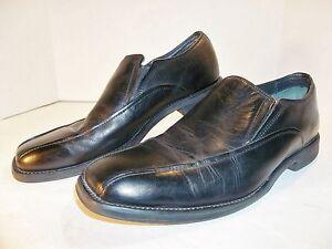 Borelli-Men-039-s-Hartford-Square-toe-Leather-Casual-Loafer-SIZE-8-5M-BLACK