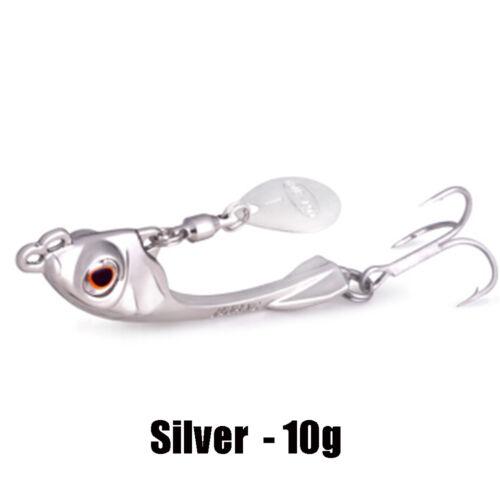 7.5g//10g//15g Hook Lead Casting Fishing Lures Spinning Baits Jig Metal Slice