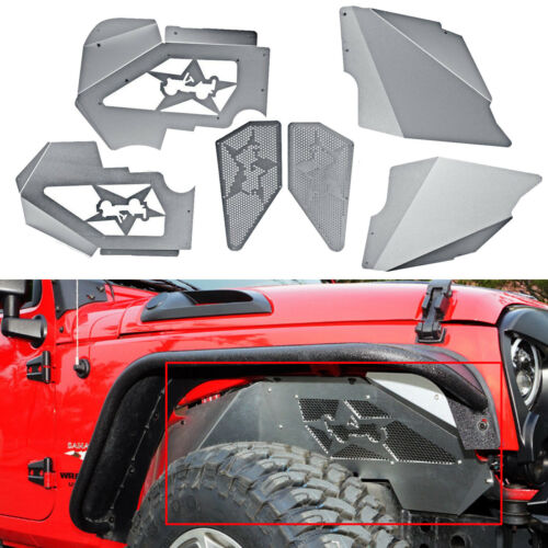 Newest Ultimate Front Inner Fenders Aluminum For 2007-2017 Jeep Wrangler JK JKU