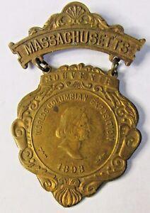 rare-1893-MASSACHUSETTS-State-COLUMBIAN-EXPOSITION-badge-medal-pin-WORLD-039-S-FAIR