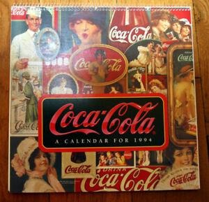 COCA-COLA Calendar for 1994 UNUSED 1906-1953 Advertisements AMERICANA Coke Soda