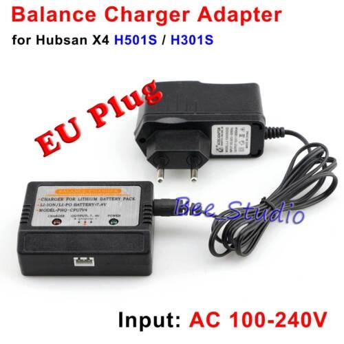 H502S H502E LiPo Battery Charger /& EU Plug Adapter H501C Hubsan X4 H501S