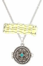 "SERENITY PRAYER Box Locket Pendant Necklace on 18"" Link Chain, by Divinity"