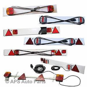 3ft-4ft-5ft-Standard-or-LED-Trailer-Light-Board-Cable-Caravan-Car-Van-Boat-Lorry