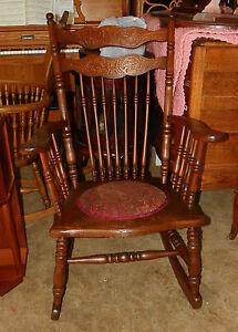 Carved-Elm-Spindle-Rocker-Rocking-Chair-R13