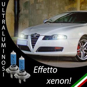 COPPIA LAMPADE H7 ALFA ROMEO 147 EFFETTO XENON BIANCHI ANABBAGLIANTI