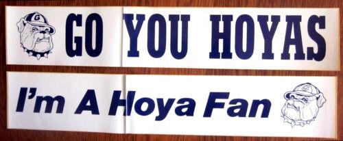 Two Each of 2 Different Georgetown Hoyas Unused Bumper Stickers Go Hoya Fan