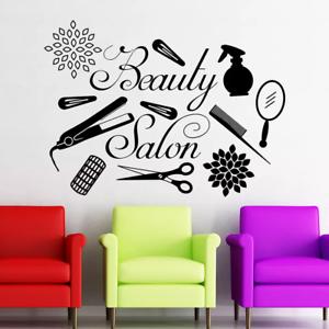 Details About Beauty Salon Decor Hair Salon Wall Decal Interior Art Decoration Vinyl Wallpaper