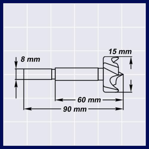 Forstnerbohrer forets Ø 15 mm