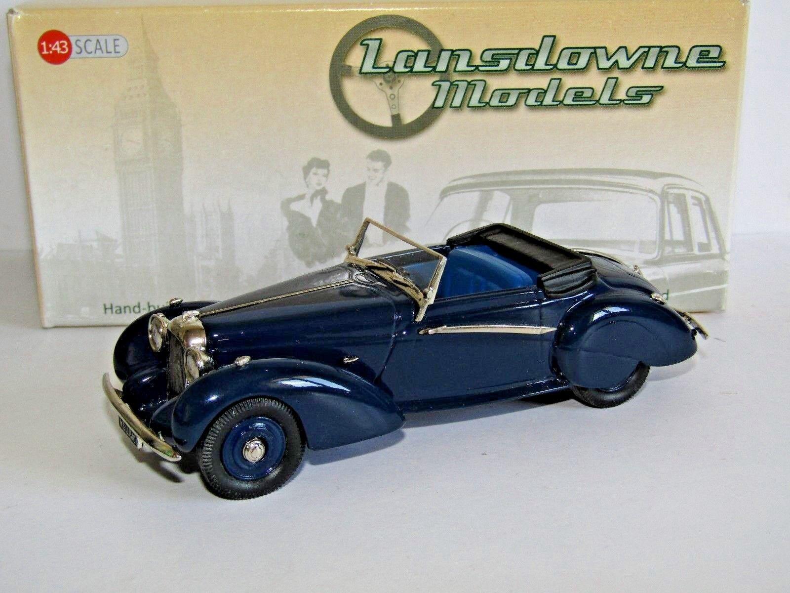 Lansdowne Modelos 1939 Lagonda V12 Rapide Drophead Coupé blu oscuro 1 43 LDM78A
