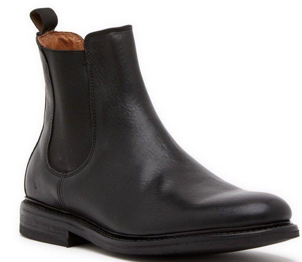 228 Frye Seth Leather Chelsea Boot Men's shoes Black Size 10 M