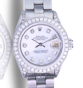 Rolex-Lady-Datejust-White-MOP-Diamond-Dial-Diamond-Lugs-Bezel-26mm-Watch
