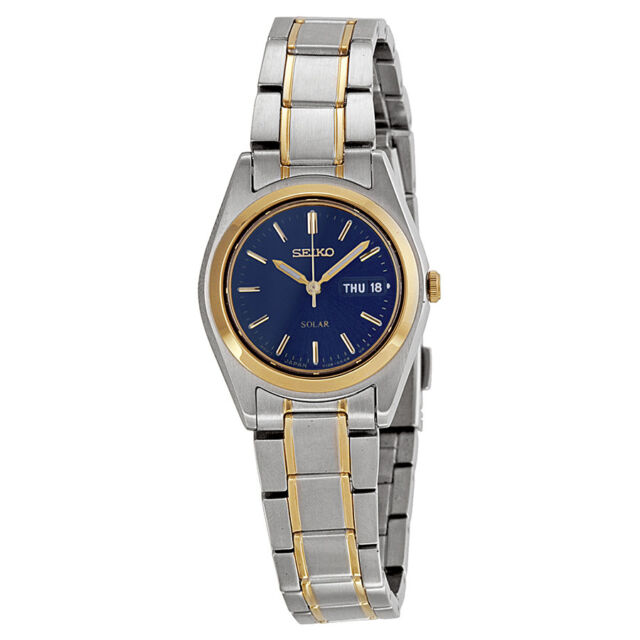 0f6f722c13bc Women s Seiko SUT110 Two Tone Stainless Steel Blue Solar Dial Watch ...